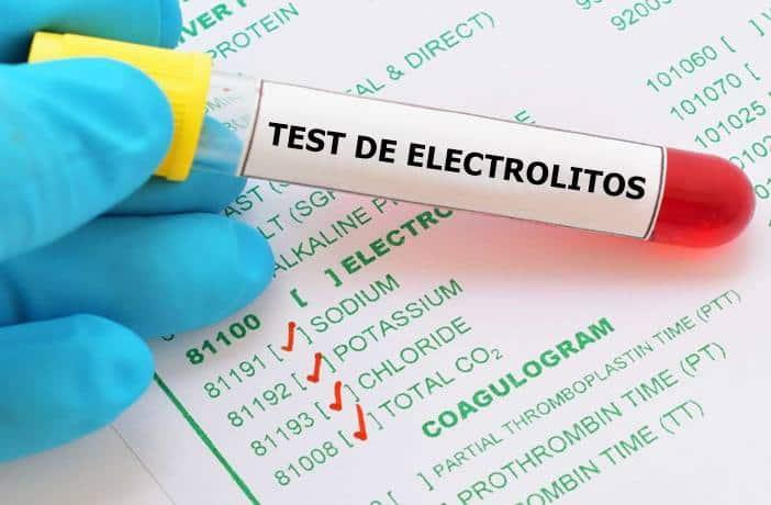 Test de electrolitos y hiponatremia